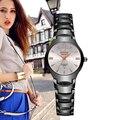 Bosck vestido de luxo da marca relógio de forma das mulheres senhoras de aço de tungstênio diamante vestido relógio feminino relojes mujer relogio feminino