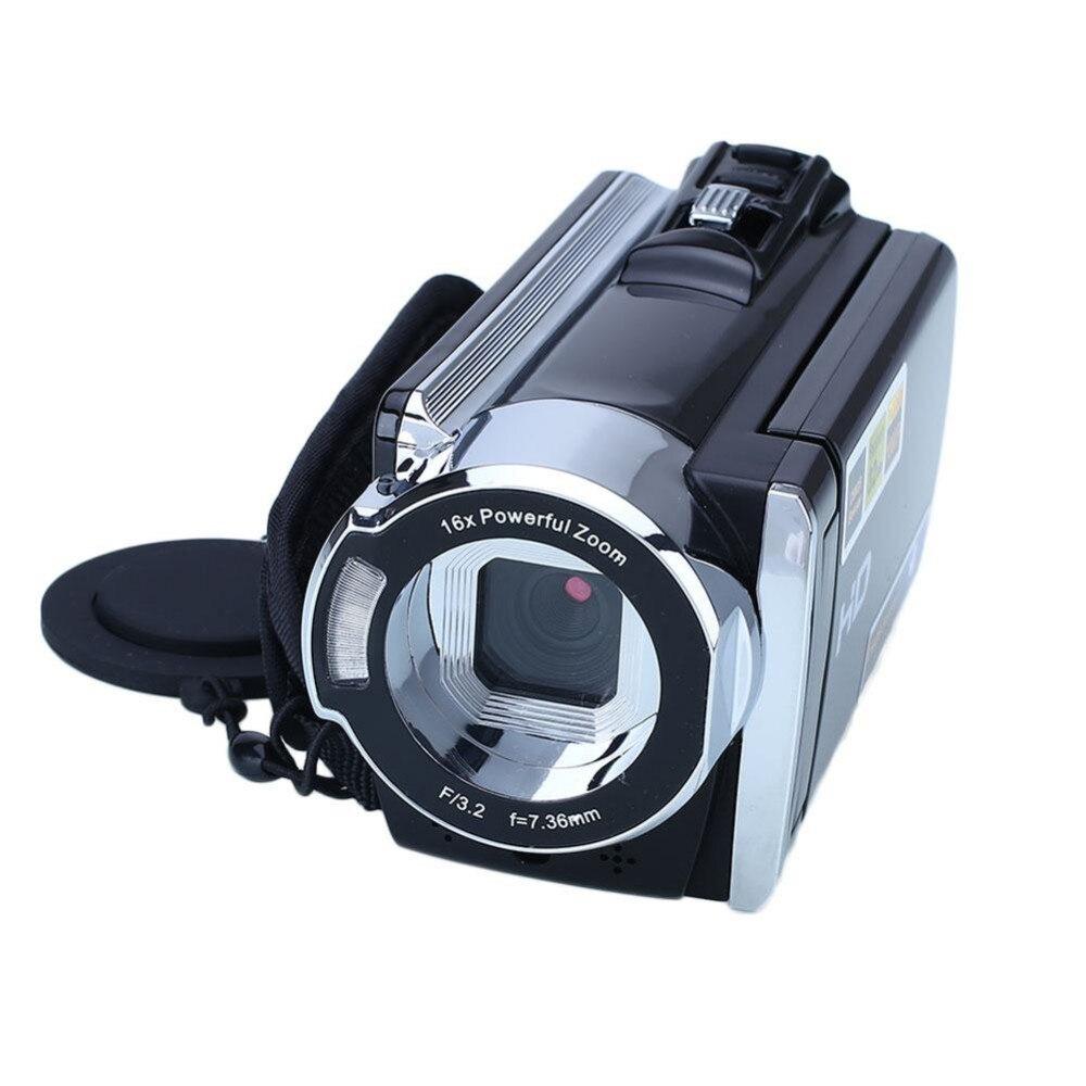 HD 1080P 16MP cámara Digital china videocámara grabadora DV DVR 3,0 ''LCD 16x Zoom óptico profesional Ultra cámara fotográfica 16MP Ultra-clear HD cámara Digital DVR 1080P Mini HD cámara de vídeo preciso cámara grabadora DVR negro