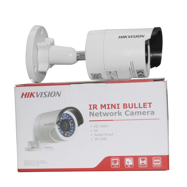 HIKVISION CCTV IP Camera DS-2CD2042WD-I 4MP Bullet Security IP Camera with POE Network camera Security Cameras Surveillance