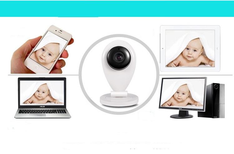 HD 720P H.264 Mini WIFI IP Camera Wireless CCTV Security Camera 2-way Audio Night Vision howell wireless security hd 960p wifi ip camera p2p pan tilt motion detection video baby monitor 2 way audio and ir night vision