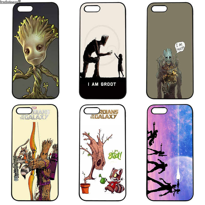 Guardians of the for Galaxy Marvel Rocket Fun Dynamic pc Case for iphone 8 7 6 6S Plus X 5S 5C 5 SE 4 4S iPod Touch 4 5 6 Shell