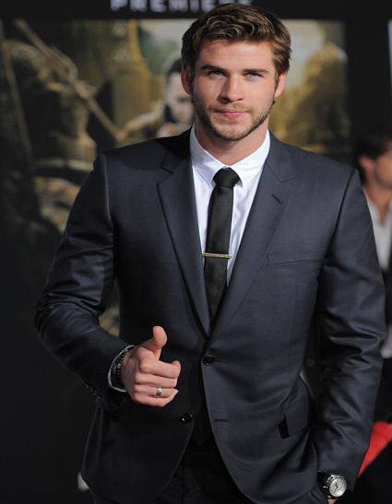 Aliexpress.com : Buy Handsome Tuxedos Dark Grey Wedding Suits For