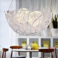 Restaurant lamp Aluminum Chandelier Bird Nest Light Glass Egg Led bedroom lamps hanging lights Chandeliers