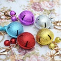 Christmas gifts New Fashion Big Lobster Clasp Small Copper Jingle Bells KeyChain Sliver Charming Flash Bright Metal Chain Ring