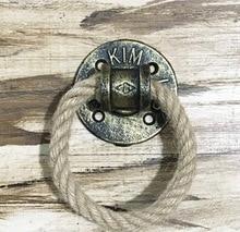2Pieces/Lot Diameter:7cm Bronze Color Flange Ring Door Handle Hemp Rope Furniture