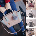 Smiling Face Ball Multi Purposes Tote Shoulder Messenger Bag for Women Fashion Patchwork Handbag