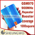 Direct Marketing Sunhans GSM booster 970 GSM 900Mhz coverage 1000square signal booster repeater amplifier 20pcs/lots