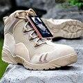 Los Hombres de Cuero genuino Botas Militares Botas Tácticas Militares Hombres Del Desierto Botas de Combate de Los Hombres Al Aire Libre Senderismo Zapatos Transpirable Botas de Viaje