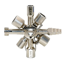10 In 1 Universal Cross Key Electrician Plumber Universal Square Triangle wrench  for Gas Train Bleed Radiators