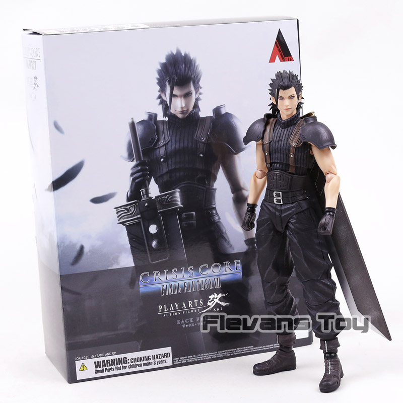 Play Arts Kai Crisis Core Final Fantasy VII Zack Fair Action Figure Toy Movable Model Collection