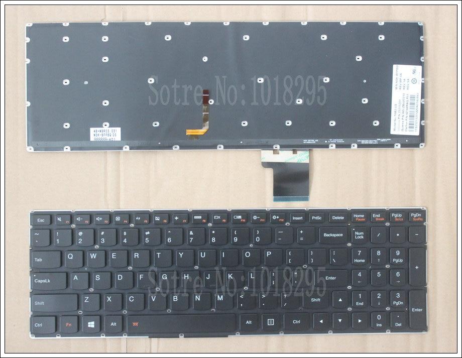 Nouveau clavier anglais pour Lenovo 25213201 25213171 25213141 clavier d'ordinateur portable us rétro-éclairé
