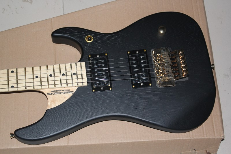 wholesale Top quality WASHBURN N4 Nuno Betancourt STEPHENS EXTENDEN CUTAWAY Black electric guitar with hardcase