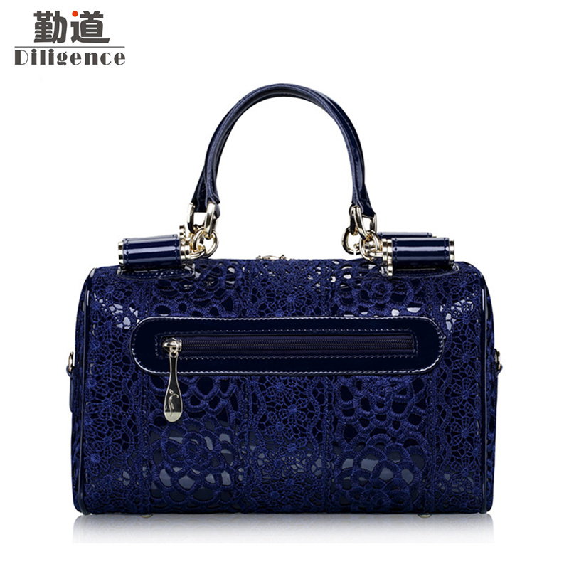 15ca56f745 Lace Handbags Luxury Brands Designer Style Genuine Leather Women Bag 2018  Wedding Red Bags bolsa feminina mujer
