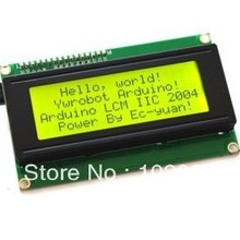 10 шт х IIC/I2C 2004 ЖК-дисплей модуль желтый и зеленый экран с библиотечные файлы светового бисера