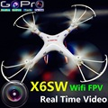 Nueva X6sw WIFI FPV Cámara Juguetes RC Helicóptero Quadcopter Drone Profesional Drones con HD Cámara Drone VS MJX X101 X600 X5SW X8W