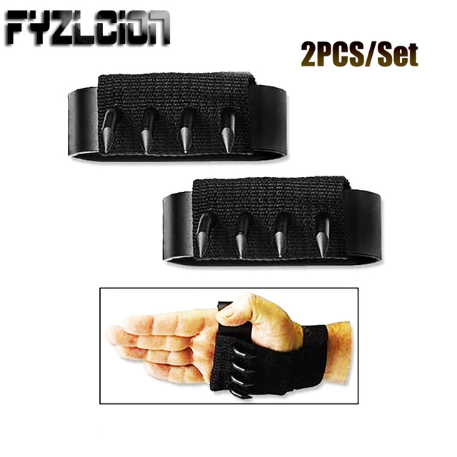 2PCS Outdoor Anti-skid Ninja Martial Arts Climbing Tools Tactical Gloves Hidden Weapons Slip Paw Claw Knife a Pair