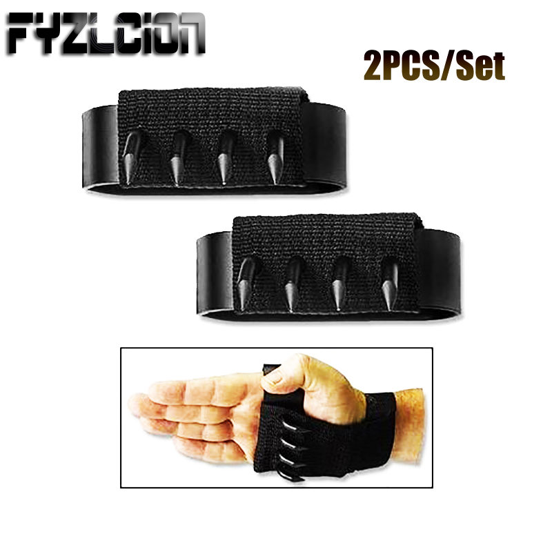 2Pcs/Set Outdoor Anti-skid Ninja Martial Arts Climbing Tools Tactical Gloves Hidden Weapons Slip Paw Claw Knife A Pair