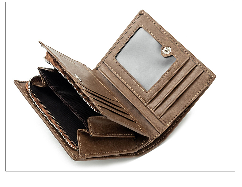 new Genuine men's high quality business fashion leather wallet multi-card multi-function coin purse credit card free shipping