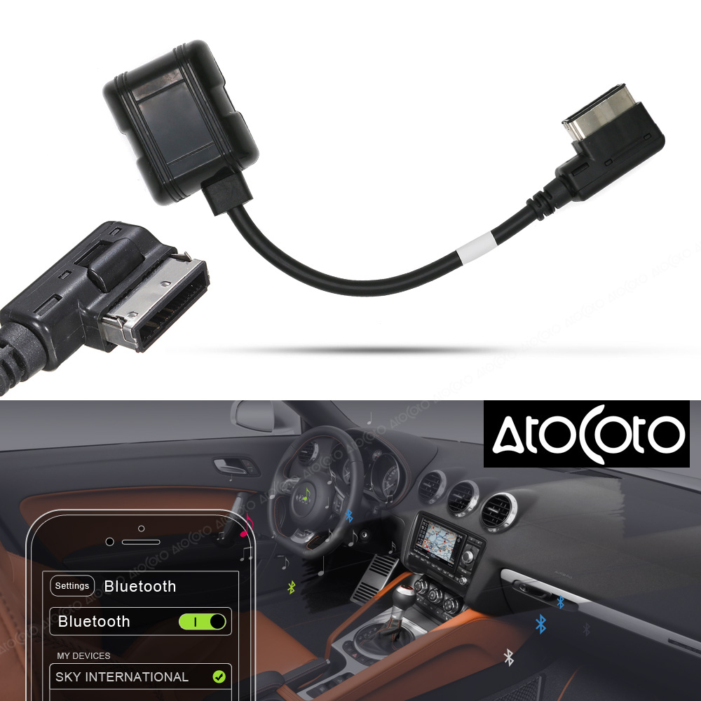 Car Bluetooth Module For Audi Vw Radio Stereo Aux Cable