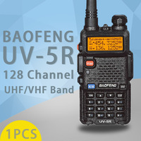 """רדיו ווקי טוקי (1 PCS) Baofeng UV5R Ham שני הדרך רדיו טוקי ווקי Dual-Band מקמ""""ש (שחור) (2)"""