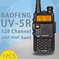Walkie talkie baofeng uv5r ham two way radio walkie talkie dual-band transceiver (preto)