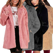 2150f33055a OLGITUM Winter 2019 Faux Fur Coat Women Casual Thick Warm Outerwear Fake  Fur Jacket