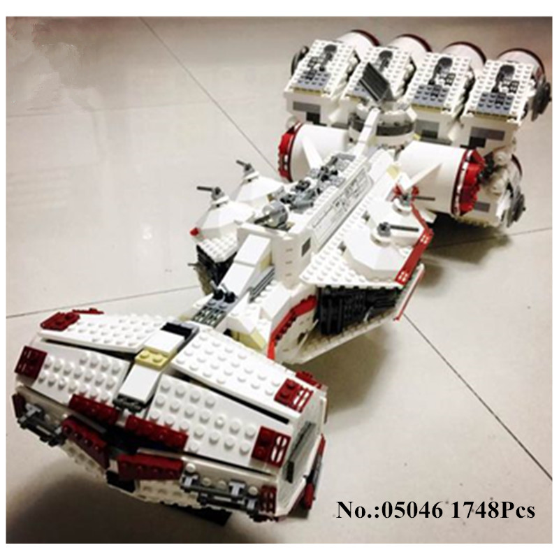 IN STOCK 05046 Star 1748Pcs Series Wars The Tantive IV Rebel Blockade Runner Set Building Blcoks Bricks lepin  DIY Toys  10019 sme series iv
