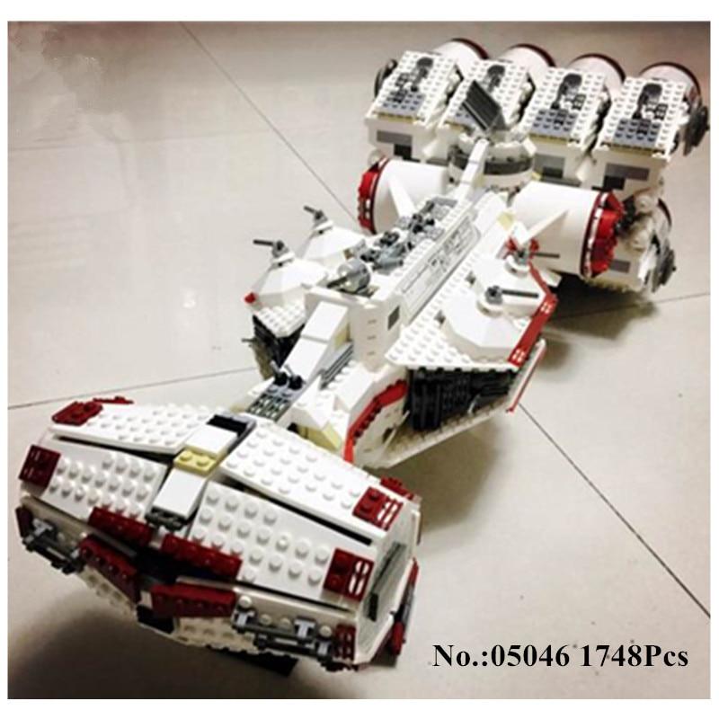 IN STOCK 05046 Star 1748Pcs Series Wars The Tantive IV Rebel Blockade Runner Set Building Blcoks Bricks lepin DIY Toys 10019