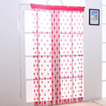 Heart-shaped line curtain decorated living room door Continental gauze curtains 100g / pcs 6 color optional size 200 * 100cm