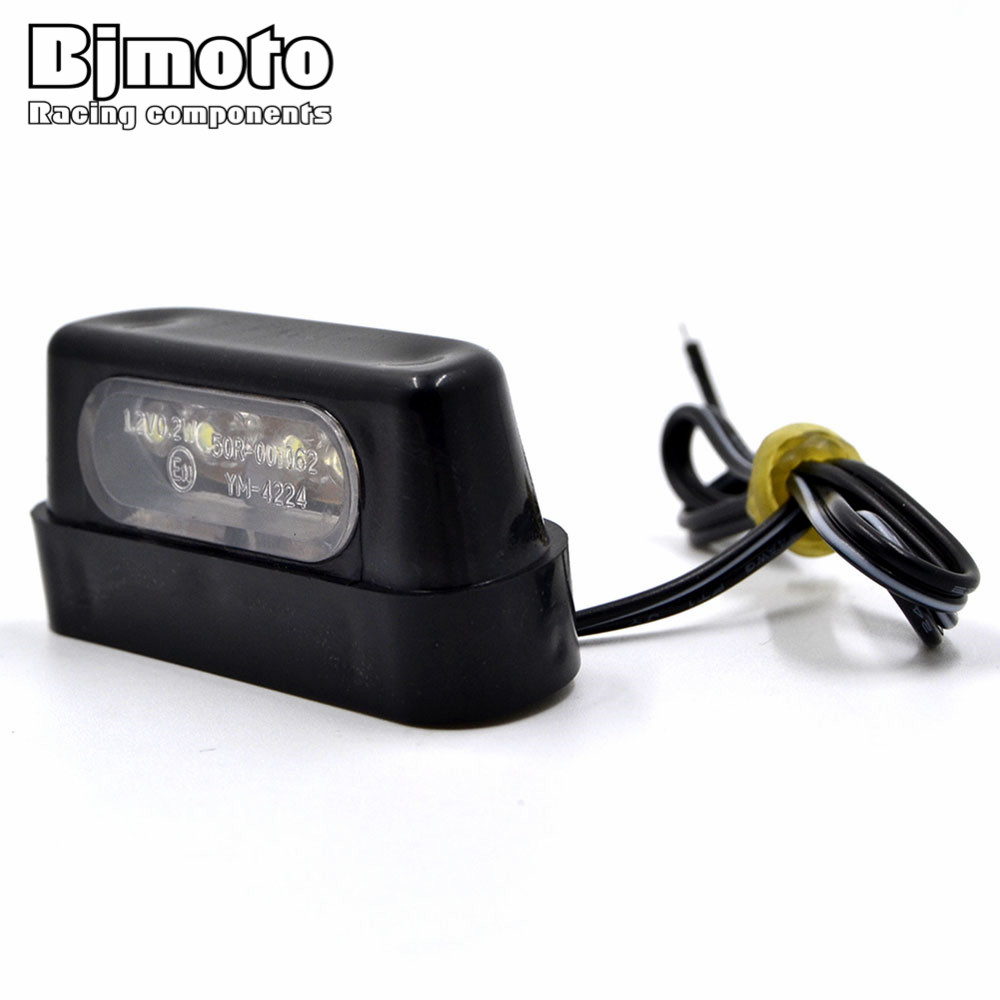 12V Universal LED Motorcycle Tail Brake Rear License Plate Light with Emark For Honda Kawasaki Yamaha
