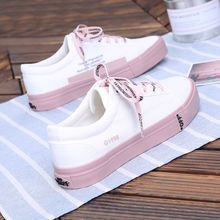 Canvas shoes female students Korean version of the wild Harajuku style small white shoes цена 2017