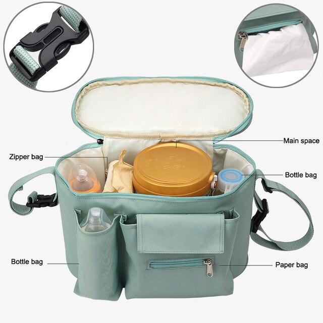 SeckinDogan Kinderwagen Tas Grote Capaciteit Luier Tassen Outdoor Reizen Opknoping Wagen Mama Bag Kinderzorg Organizer 1