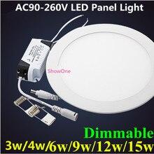 Ультра тонкий дизайн 3 Вт 4 Вт 6 Вт 9 Вт 12 Вт 15 Вт 18 Вт светодиодный SMD 2835 потолочный встраиваемый светильник/тонкий круглый плоский панельный светильник
