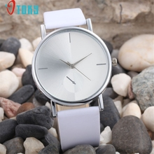 Watches OTOKY Willby Women's Simple Stylish White Watch PU Leather Quartz Wrist Watches 161221 Drop Shipping