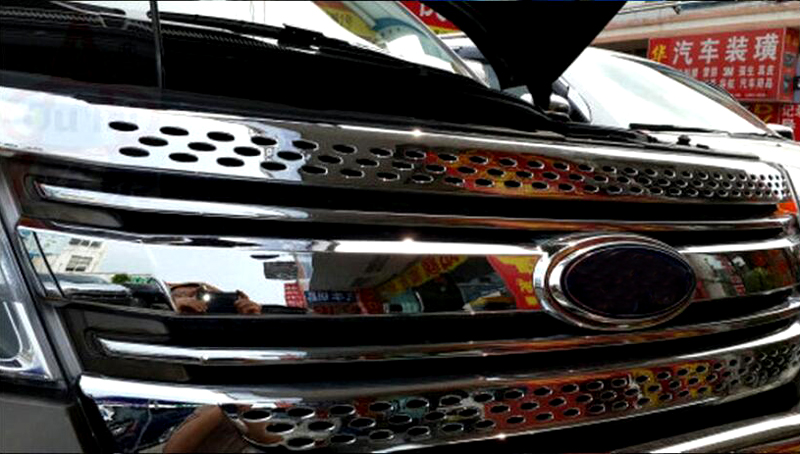 Front center grille grill 3pcs For Ford Explorer 2011 2012 2013 2014 car styling
