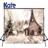 Kate Christmas Backdrop Backgrounds For Photo Studio Snow House Christmas Tree Photography Background Christmas Snowy Background