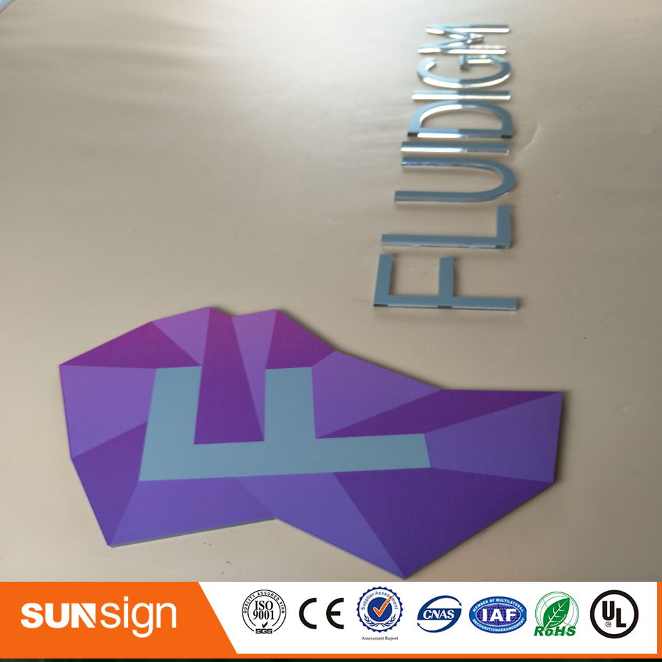 Customized Acrylic Cutting Letters No Light Acrylic Sign
