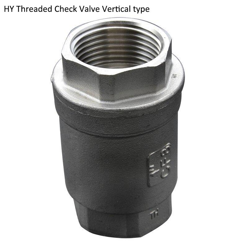 "1/2"" DN15  Lift Check Valves  SS304 Stainless Steel Valve Heavy type"