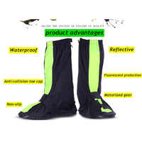 KESMALL Motorcycle Cycling Bike Rain Boot Shoes Covers Easy to Ride for Rider Waterproof Non-slip Night Travel Safety Accessorie