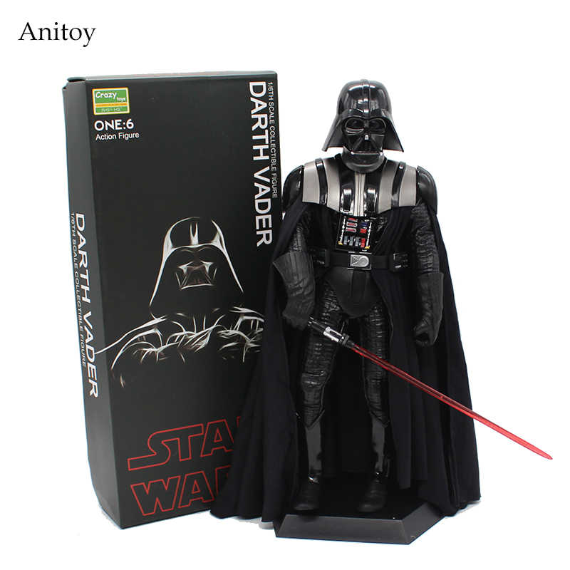 Louco Brinquedos Star Wars Darth Vader dia 1/6 Scale PVC Figure Toy Collectible Modelo 30 cm KT4004