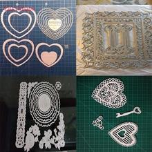 Eastshape Metal Cutting Dies For Scrapbooking Card Making DIY Embossing Cuts Dies Craft Die Love Shape Square Pattern Real Shot square shape metal cutting die for card gift