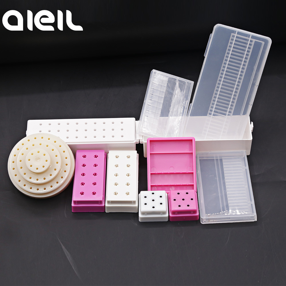 Stand Display Container Holder Nail Drill Bit Storage Box For Nail Drill Bit Holder Milling Cutter For Manicure Tool Accessories