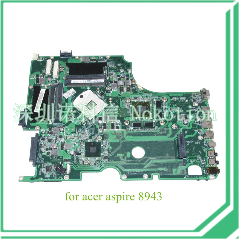 DA0ZYAMB8D0 REV D MBPUH06002 MB.PUH06.002 For acer aspire 8943 8943G laptop motherboard HM55 DDR3 ATI HD 5850 Graphics