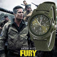 2019 Dos Homens De Nylon faixa de relógio Militar Do Exército Gemius relógio de Alta Qualidade Movimento de Quartzo Homens esportes relógio de pulso Casual