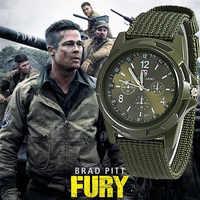 2019 Men Nylon band Military watch Gemius Army watch High Quality Quartz Movement Men sports watch Casual wristwatches