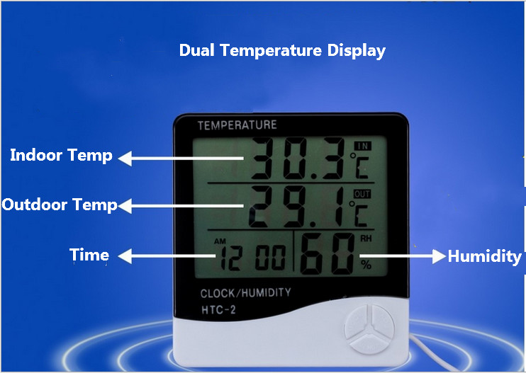 Clear ℉ ℃ Circular Outdoor Window Temperature Thermometer Weather Station-NS