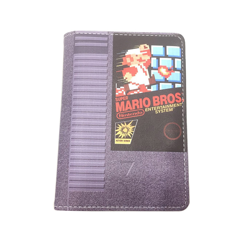 Super Mario Bros Passport Holder Game Anime Cartoon Passport Cover Leather Card Holder Bags Wallets Creative Gift For Students