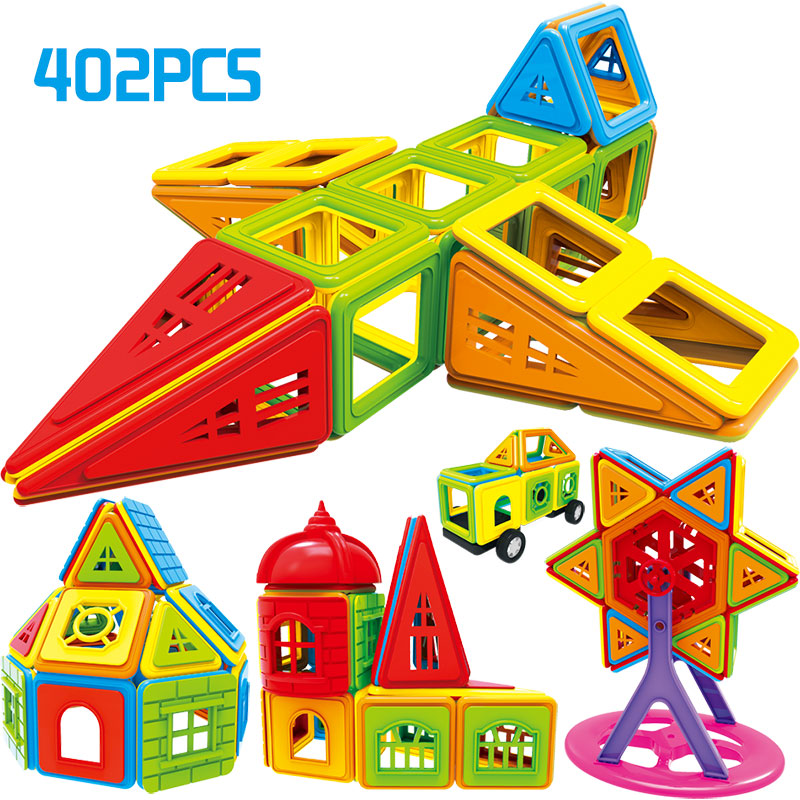 402pcs Magnetic Blocks Magnetic Designer Building Construction Toys Set Magnet Educational Toys For Children Kids Gift kids magnetic building blocks toys for children construction toy diy designer educational funny bricks toys magnet model kits