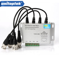 SURGE 4 Channel Active Passive Video Balun Rohs Transmitter Receiver 4CH UTP Cat5 RJ45 Support 720p