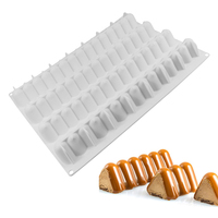 Modular Flex Infinity Rectangle Wave Shaped 3D Cake Mold Baking Form Decorating Pastry Tools Non Stick